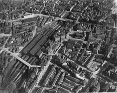Part of the Aerofilms collection found on the Britain from Above site. Nottingham Station, Railroad Pictures, Steam Railway, Exeter, Natural Disasters, Train Station, Britain, Past, City Photo