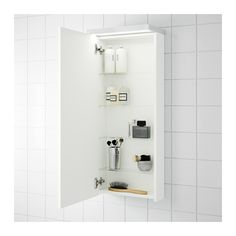 GODMORGON Wall cabinet with 1 door, white white 15 3/4x5 1/2x37 3/4