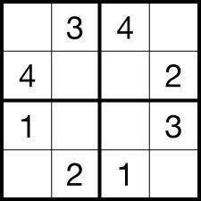 Sudoku Generator » Sudoku 4x4x pro děti a začátečníky.