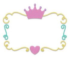 All Designs :: Princess Crown Font Frame