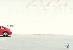 Volkswagen, new beetle - It's back. #Advertising #Print