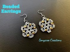 Beaded Earrings.How to make beaded Earrings Such an Awesome Tutorial - YouTube