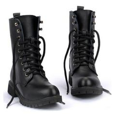 Just bought these! I've been looking for the perfect combat boots forever... Hope my search is over!! Fashion Leather Boots Man Soldiers Martin Boots High Top Shoes Cowhide Military Boots