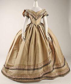 omgthatdress:  Dress  1860-1864  The Metropolitan Museum of Art