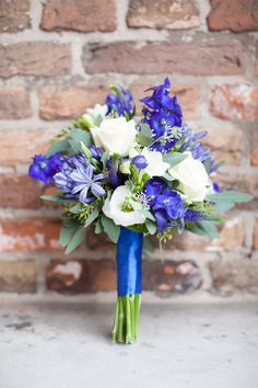 Blauw boeket / blue wedding bouquet