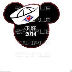 Cruise Mickey Head T-Shirt Iron On Transfer / your DIY FILE free #IRONONTRANSFERS