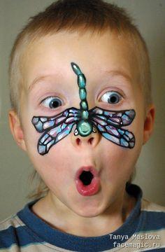 Dragonfly. Face paint by Tanya Maslova.