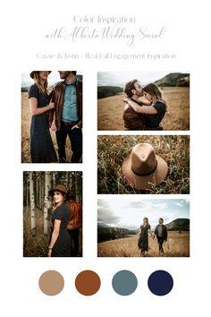 #realcouples #engagementinspiration #colourinspiration #fallengagements Photography Couples, Engagement Photography, Couple Outfits, Colour Inspiration, Event Decor, Color Trends, Wedding Events, Compliments, Color Schemes