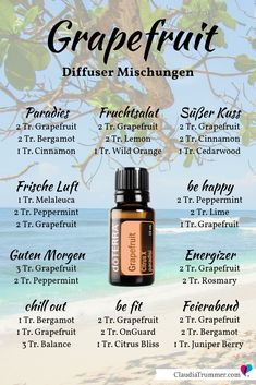 geniale doTERRA Aktionen Jänner 2019 Diffuser blends with grapefruit from - for paradisiacal states in your living room or office ; You can find even more diffuser mixes and DIY tutorials Young Living, Doterra Grapefruit, Cedarwood Oil, Doterra Cedarwood, Essential Oil Diffuser Blends, Diffuser Recipes, Aromatherapy Oils, Doterra Essential Oils, Melaleuca