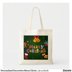 Unique Gifts, Great Gifts, Best Tote Bags, Design Your Own, Decorative Accessories, Reindeer, Holiday Cards, Merry Christmas, Reusable Tote Bags
