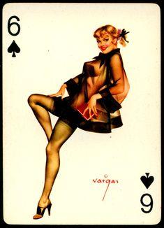 Alberto Vargas - Pin-up Playing Cards (1950) - 6 of Spades