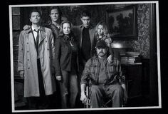 Supernatural family photo.    Abandon all hope. Season 5 episode 10.