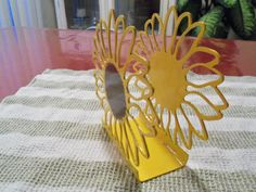 Items similar to Napkin Holder - Metal - Sunflower - By PrecisionCut Farmhouse Style Decor on Etsy Napkin Holder Metal Sunflower By PrecisionCut Sunflower Themed Kitchen, Sunflower Room, Sunflower Kitchen Decor, Sunflower Design, Sunflower Crafts, Sunflowers And Daisies, Welcome To My House, Kitchen Themes, Kitchen Ideas