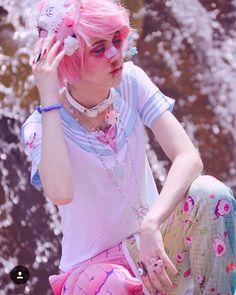 Pastel Goth Makeup, Pastel Goth Fashion, Kawaii Fashion, Punk Fashion, Cosplay Makeup, Cosplay Outfits, Cosplay Costumes, Kawaii Clothes, Harajuku Fashion