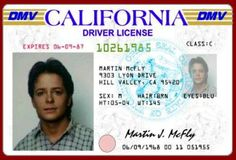 Marty Mcfly's driver's license #backtothefuture