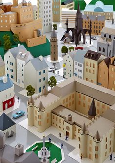 Hattie Newman's Delightful Paper-Sculpted Maps