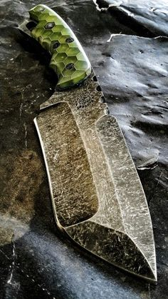 Half Life Knives Battle Knife made from Aldo's 80crv2, with Voodoo Resins scales...: