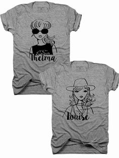c0d2c3e6b 2-Pack, Thelma and Louise, Best Friends t-shirt, Thelma, Louise, Best  Friends, ride or die, gift for her, sisters, hers and hers, (B057)