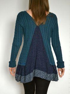 Kleid Baumwolle, Strickwaren Farbe - dunkelblau  Größe: EU - 38 (M), USA - 8 GB - 10