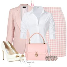 Pink&White by ccroquer on Polyvore featuring Steffen Schraut, Paul Smith, Chanel, Jimmy Choo and Dolce&Gabbana