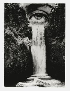 "Flood of tears (Brian Oldham.) Reminds me of the song ""Cry Me a River."" I would love to see this photomontage in color because I feel like the detail of the water and trees gets lost in it being in black and white. Photomontage, Jerry Uelsmann, Sketchbook Assignments, Double Exposition, Alphonse Mucha, Grafik Design, Art Design, Art Plastique, Vincent Van Gogh"