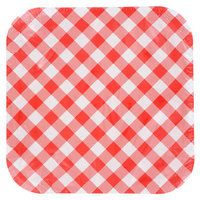 "Red Gingham Square Plates, 9"", 14-ct. Packs"