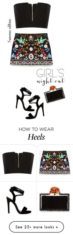 """Night out - summer edition"" by ellyg91 on Polyvore featuring Balmain, Charlotte Olympia, NightOut, girlsnightout, polyvorecontest and summer2016"