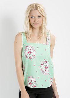 lieb leibchen top, frames of floral, Shirt, Grün