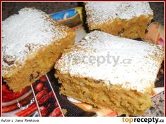 Zdravá špaldová buchta Baby Food Recipes, Sweet Recipes, Dessert Recipes, Cooking Recipes, Healthy Recipes, Desserts, Carrot Cake, Vanilla Cake, Banana Bread