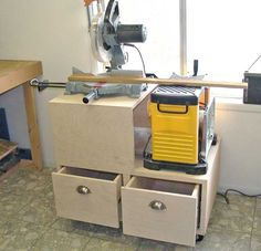 Miter Saw Table   The RunnerDuck Planner/Miter Saw Multi-Stand, step by step ...