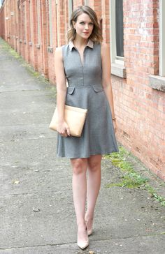 Penny Pincher Fashion wearing a chic grey skater dress from  DorothyPerkins   fashionblogger Penny Pincher 17ee8f063