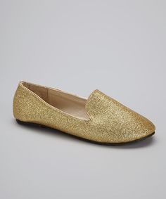 Gold Glitter Tuxedo Flat by Chatties on #zulily today!