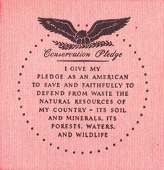 Outdoor Life Conservation Pledge, 1946