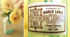 vintage apothecary labels {free printables}