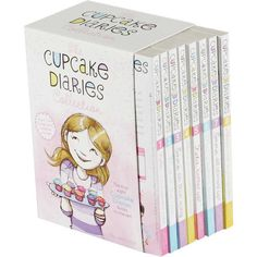 The Cupcake Diaries Collection 8 Book Box Set by Coco Simon ❤ liked on Polyvore featuring home, kitchen & dining and serveware