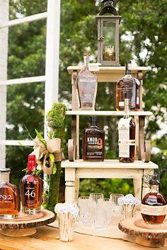 Brides: From a Beer Bar to a Cigar Bar: 5 Cool Reception Ideas Your Groom Will Love Cigar And Whiskey Bar, Bourbon Bar, Whisky Bar, Cigar Bar Wedding, Cigar Party, Brewery Wedding, Birthday Table Decorations, Donut Decorations, Cocktails Bar