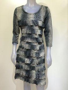 Long sleeve Tango Mango, Ruffle dress DR760L-309 – Silhouette Fashion Boutique