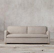 6' The Petite Belgian Slope Arm Upholstered Sofa