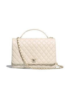 Handbags of the Spring-Summer 2018 Pre-Collection CHANEL Fashion collection : Bowling Bag, printed fabric, calfskin & silver-tone metal, white & beige on the CHANEL official website. Burberry Handbags, Chanel Handbags, Luxury Handbags, Fashion Handbags, Purses And Handbags, Fashion Bags, Hijab Fashion, Chanel Boy Bag, Chanel Bags