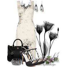 """Floral Shift Dress"" by arjanadesign on Polyvore"