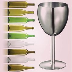 eFlasks - Sip your vino from a #Visol Antoinette Stainless Steel Wine Glass! #wine