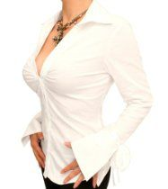 Blue Banana - Bell Sleeve Stretchy Fitted Shirt