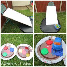 Adventures of Adam car ramp painting Summer Camps For Kids, Summer Kids, Preschool Classroom, Kindergarten, Classroom Ideas, Car Ramp, Picnic Blanket, Outdoor Blanket, Tuff Spot