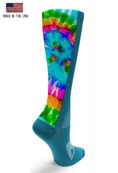 We're crazy and crazy about keeping your feet and legs in great condition to go the distance while looking stylish in our true graduated compression socks and sleeves! * All Socks & Sleeves are sold in Pairs :) - 15-20mmhg True Graduated Compression- Lightweight Micro Nylon- Comfort Toe Seam- Moisture Control- Durable Heel & Toe Construction- MADE IN THE USA