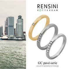 #ring #jewels #Rensini #Rotterdam Collectie Modern GC pavé-serie