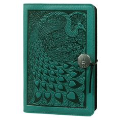 Hummingbird Oberon Design Custom Teal Leather Pocket Moleskine//Notebook Cover