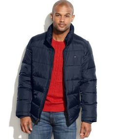 TOMMY HILFIGER Tommy Hilfiger Stand-Collar Puffer Coat. #tommyhilfiger #cloth # coats