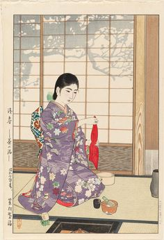 Kasamatsu Shiro: Late Spring: Tea Ceremony (Zanshun--Chanoyu) - Museum