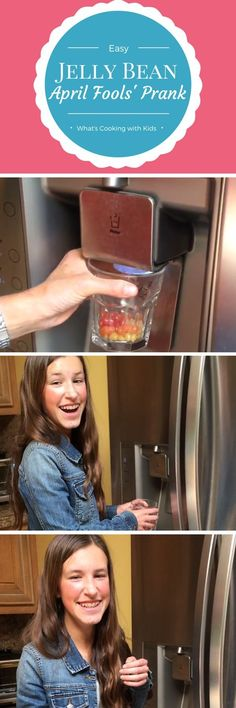 This is one April Fools' Day Prank that the kids will love! Follow these easy steps to surprise your family with jelly beans in the ice dispenser. Via What's Cooking with Kids