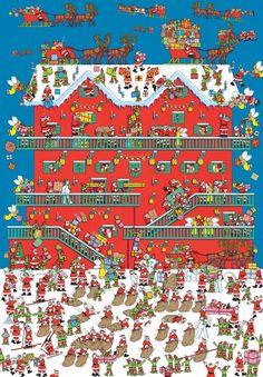 Waar is Wally? Wo Ist Walter, Kindergarten Special Education, Wheres Wally, Hidden Pictures, Hidden Images, Silhouette Images, Theme Noel, Cartoon Shows, Christmas Activities